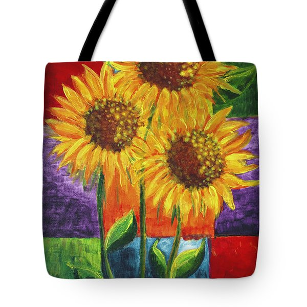 Sonflowers I Tote Bag by Holly Carmichael