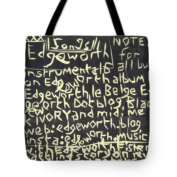Song Notes Title Page A-l Tote Bag