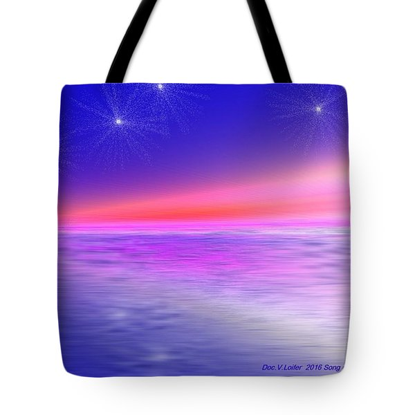 Tote Bag featuring the digital art Song Of Night Sea by Dr Loifer Vladimir