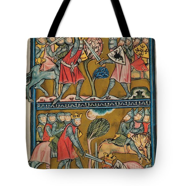 Song Of Roland Charlemagne  Tote Bag by Photo Researchers