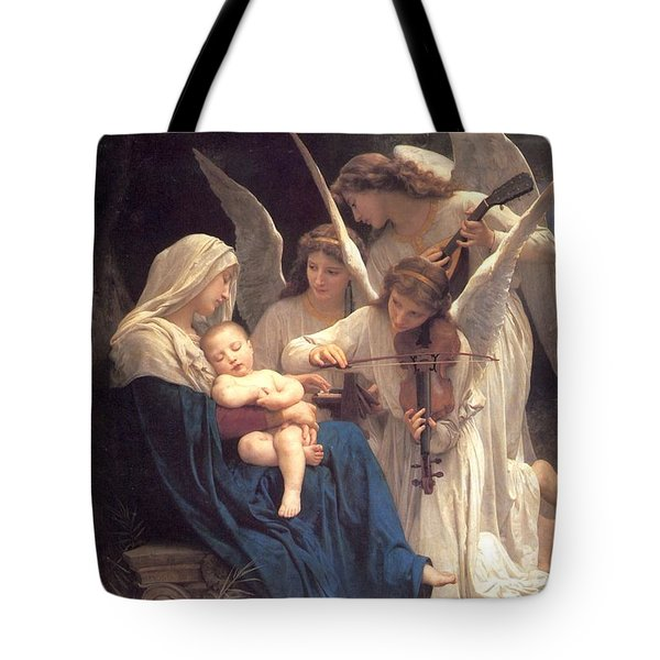 Tote Bag featuring the painting Song Of The Angels by Celestial Images