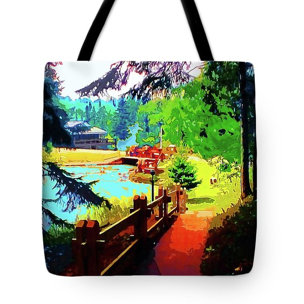 Song Of The Morning Camp Tote Bag