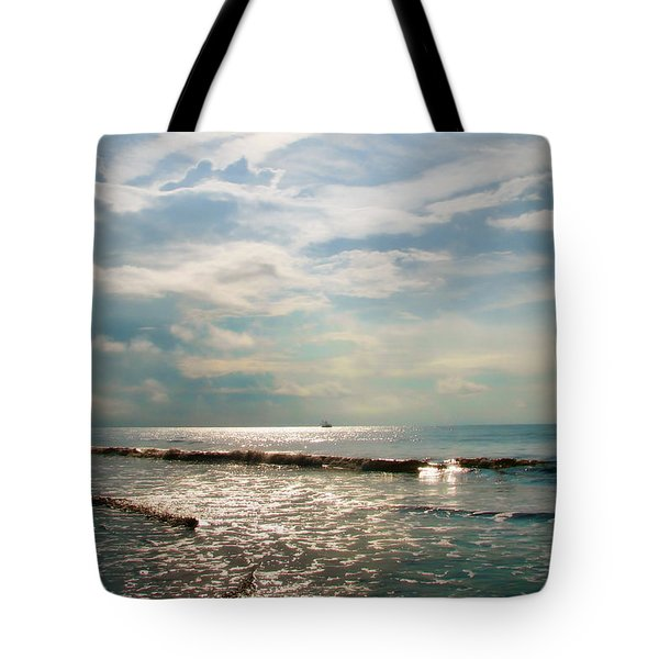 Tote Bag featuring the photograph Song Of The Sea by Amy Tyler