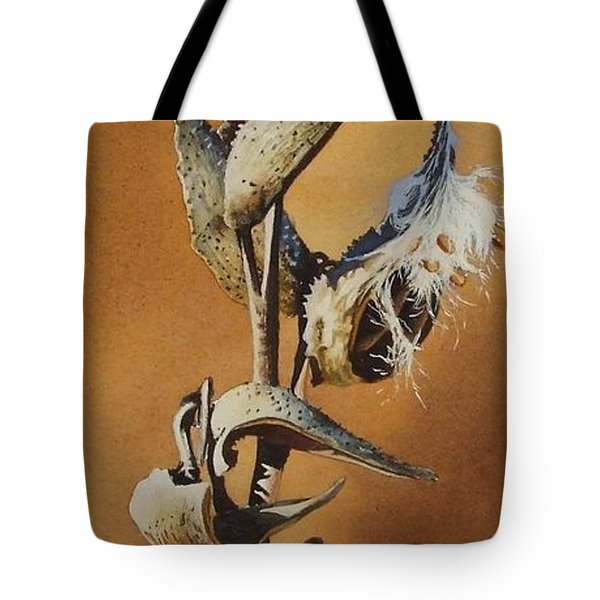 Song Sparrow And Milkweed Tote Bag