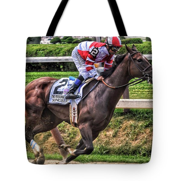 Songbird With Mike Smith Saratoga August 2017 Tote Bag