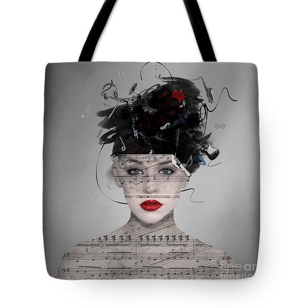 Tote Bag featuring the digital art Songwriter by Nola Lee Kelsey