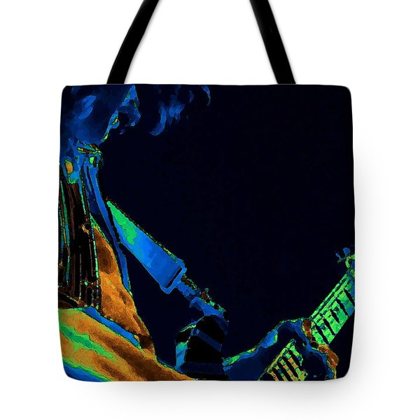 Sonic Guitar Explosions Art 1 Tote Bag by Ben Upham