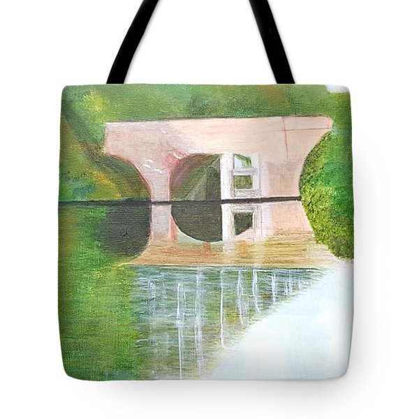 Sonning Bridge In Autumn Tote Bag