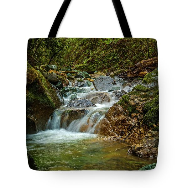 Tote Bag featuring the photograph Sonoma Valley Creek by Bill Gallagher