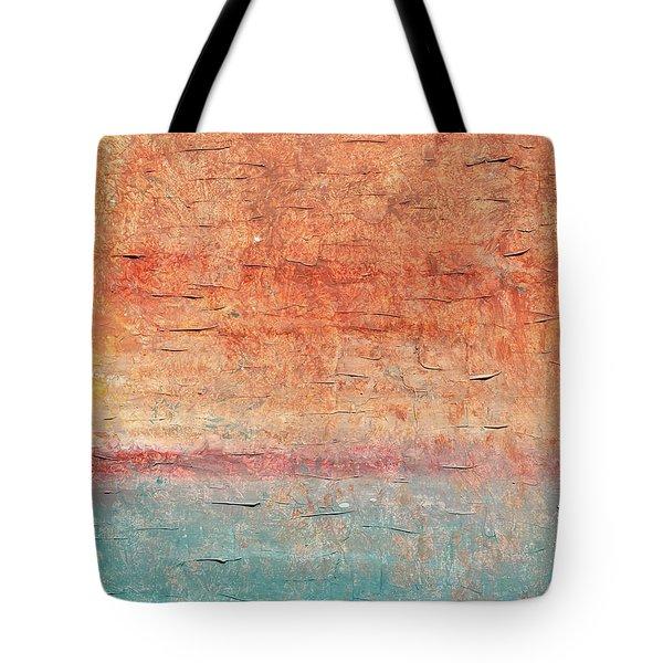 Sonoran Desert #1 Southwest Vertical Landscape Original Fine Art Acrylic On Canvas Tote Bag