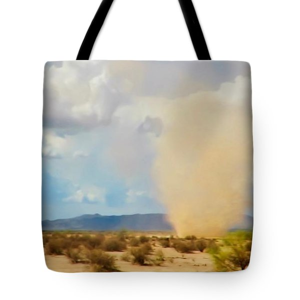 Sonoran Desert Dust Devil Tote Bag