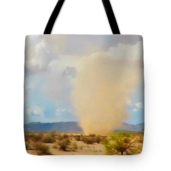 Sonoran Desert Dust Devil Tote Bag