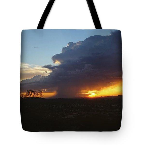 Sonoran Desert Thunderstorm Tote Bag