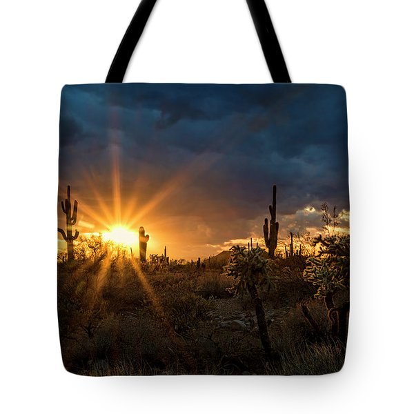Tote Bag featuring the photograph Sonoran Gold At Sunset  by Saija Lehtonen