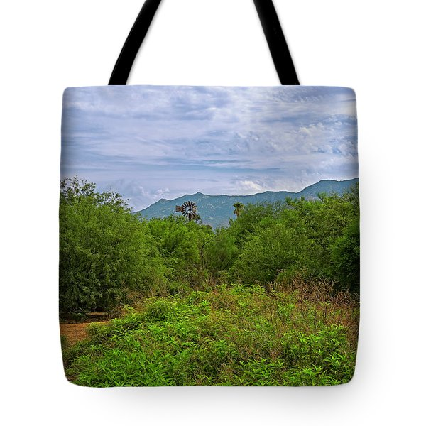 Tote Bag featuring the photograph Sonoran Greenery H30 by Mark Myhaver