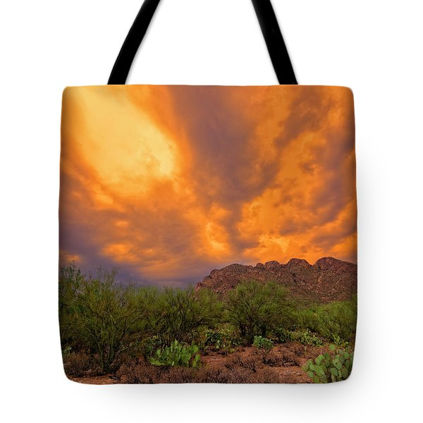 Tote Bag featuring the photograph Sonoran Sonata H16 by Mark Myhaver