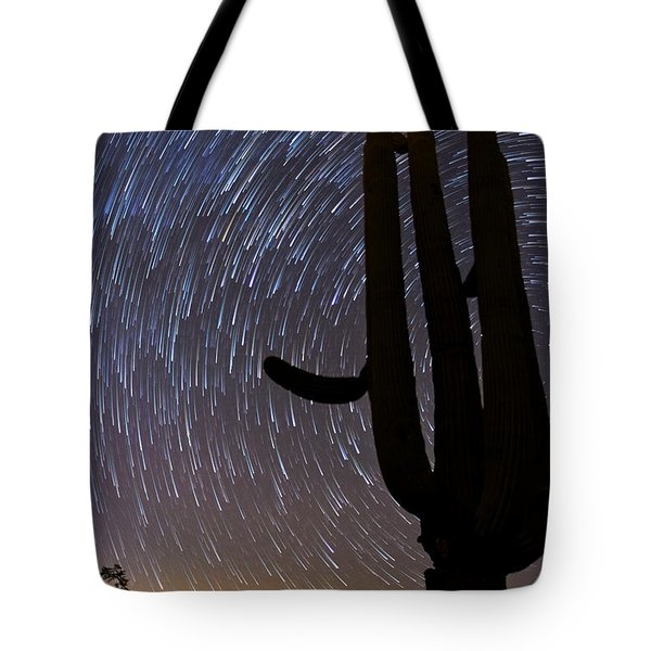 Sonoran Startrails - Reaching For The Stars Tote Bag