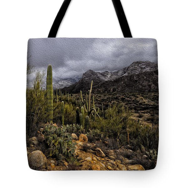 Tote Bag featuring the photograph Sonoran Winter No.3 by Mark Myhaver