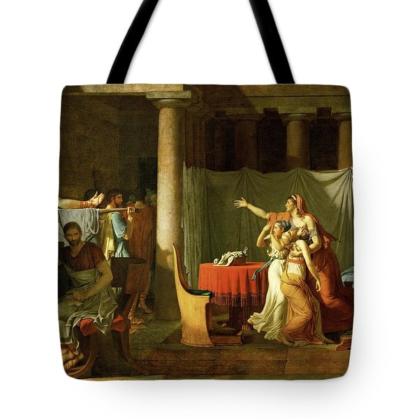 Sons Of Brutus  Tote Bag by Jacques Louis David