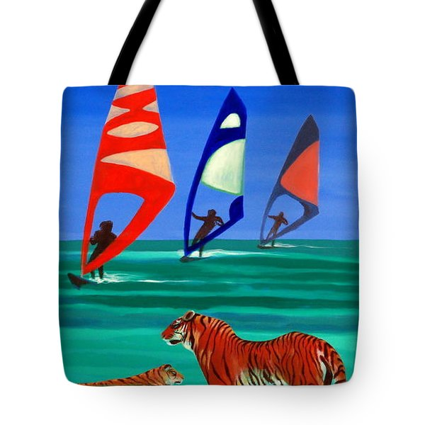 Tigers Sons Of The Sun Tote Bag