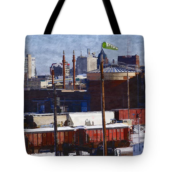 Tote Bag featuring the digital art Soo Line by David Blank