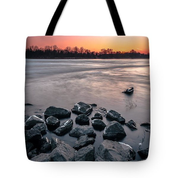 Tote Bag featuring the photograph Soon To Be Frozen by Julis Simo