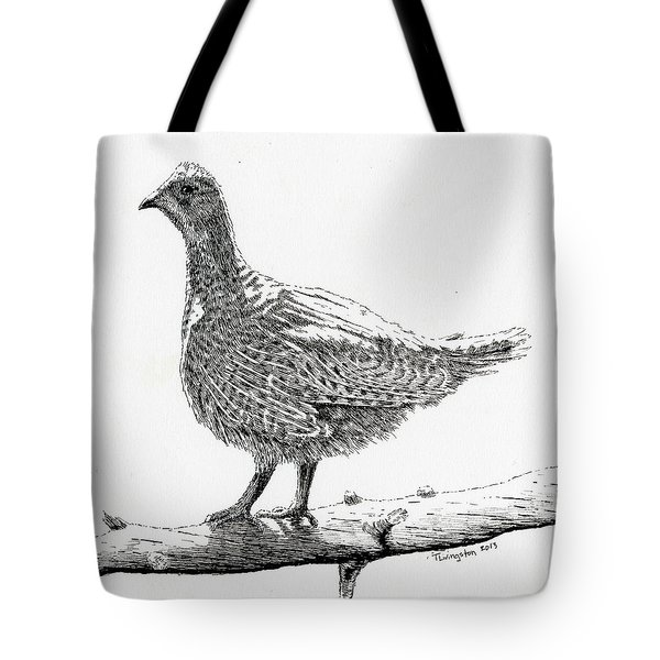 Sooty Grouse Tote Bag