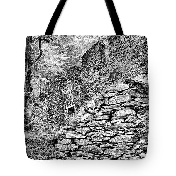 Sope Creek Mill In Black And White Tote Bag