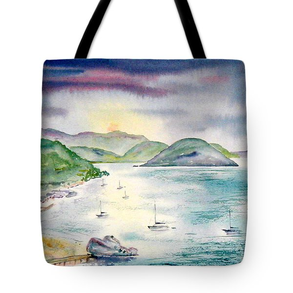 Sopers Hole Sunset Tote Bag