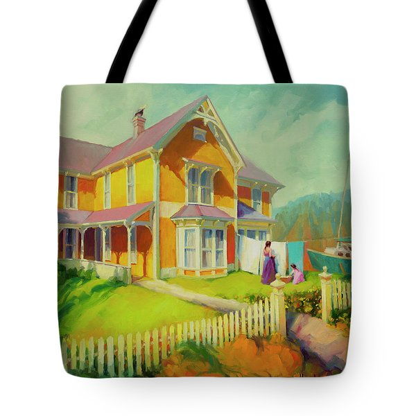 Tote Bag featuring the painting Sophie And Rose by Steve Henderson