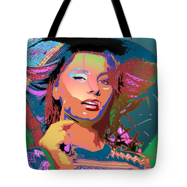 Tote Bag featuring the digital art Sophia 4 by John Keaton