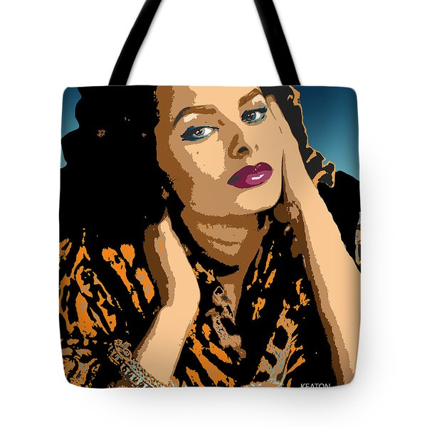 Tote Bag featuring the digital art Sophia by John Keaton