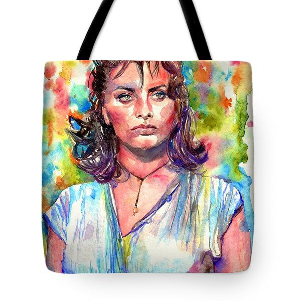 Sophia Loren Painting Tote Bag