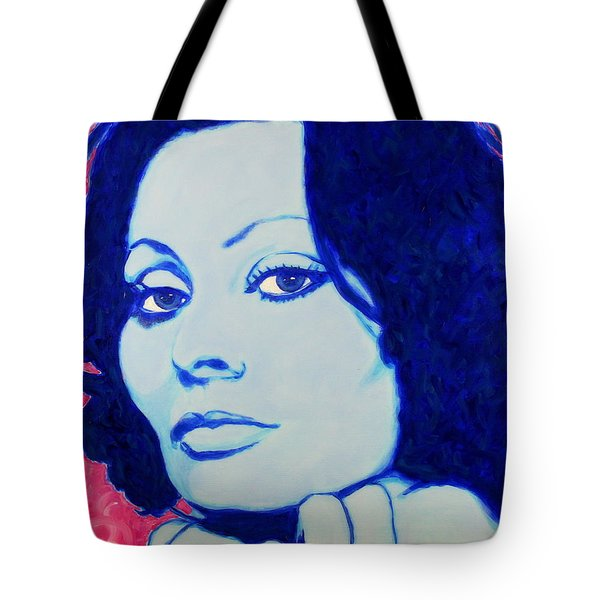 Sophia Loren Pop Art Portrait Tote Bag