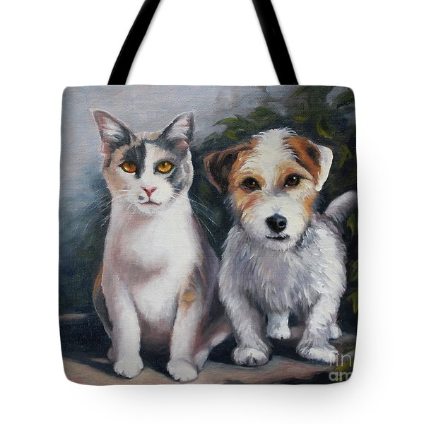 Sophie And Woodruff Tote Bag