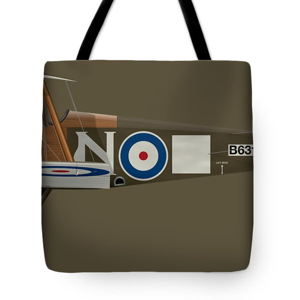 Sopwith Camel - B6313 March 1918 - Side Profile View Tote Bag