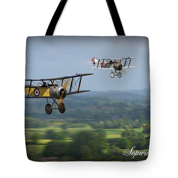Tote Bag featuring the digital art Sopwith Scout 2 by John Wills