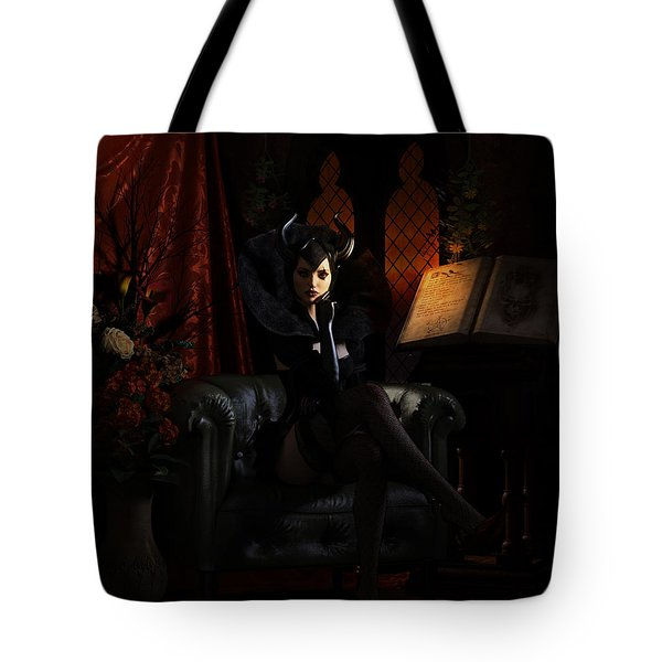 Tote Bag featuring the digital art Sorciere by Shanina Conway