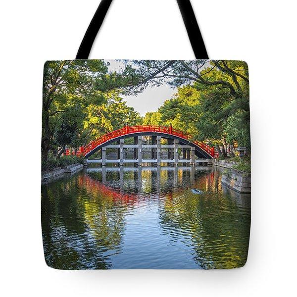 Sorihashi Bridge In Osaka Tote Bag by Pravine Chester