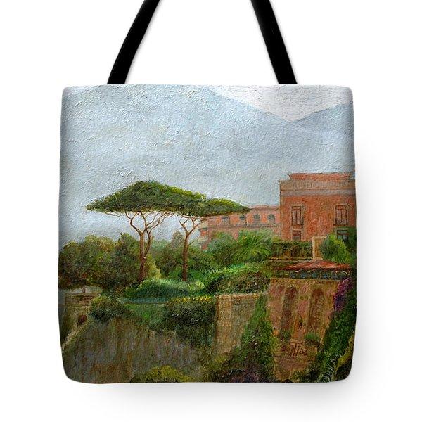 Sorrento Albergo Tote Bag by Trevor Neal
