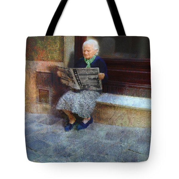Sorrento News Tote Bag