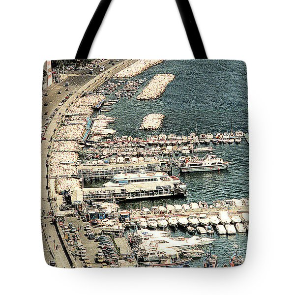 Tote Bag featuring the photograph Sorrento's Harbor, Italy by Merton Allen