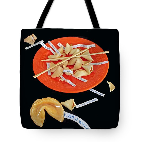 Misfortune Cookies Tote Bag by Joe Jake Pratt