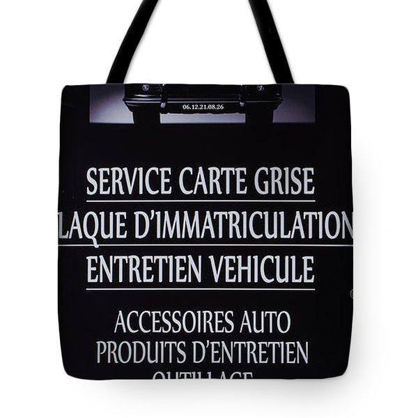 Sospel Mechanic Tote Bag
