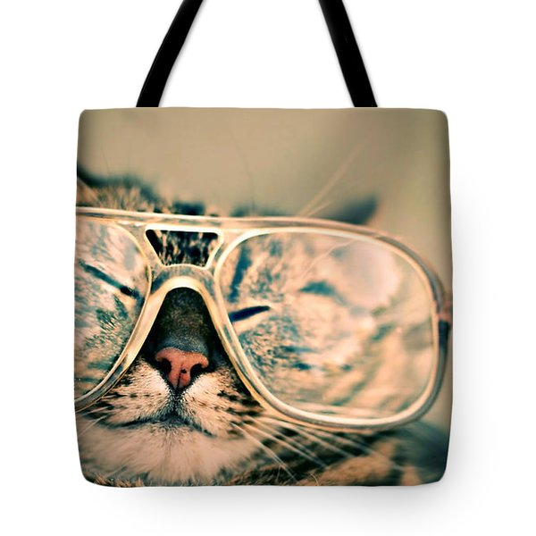 Sosy Cat With Glasses Tote Bag