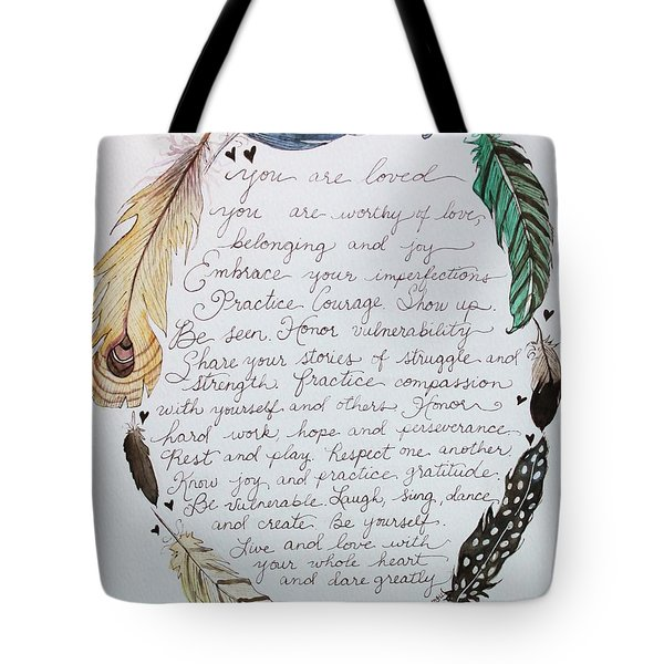 Soul Shaping Feathers Tote Bag by Elizabeth Robinette Tyndall