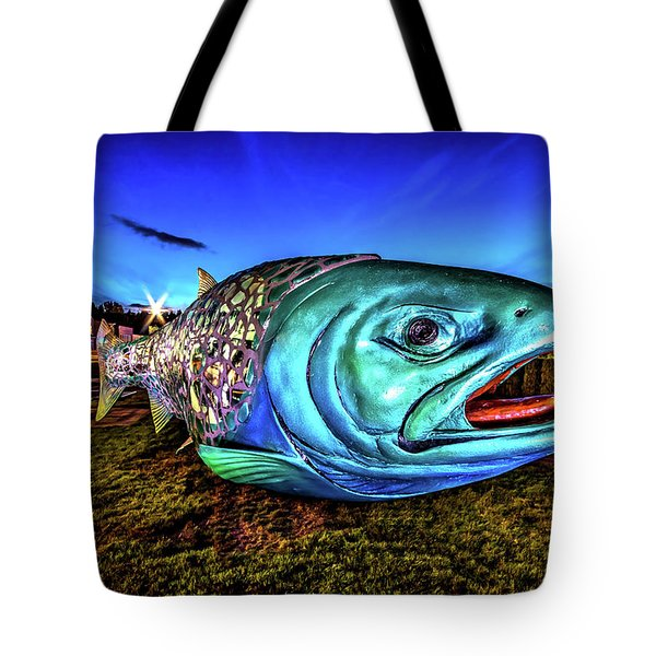 Soul Salmon During Blue Hour Tote Bag