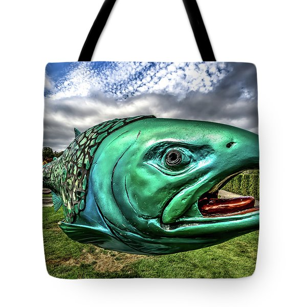 Soul Salmon In Hdr Tote Bag