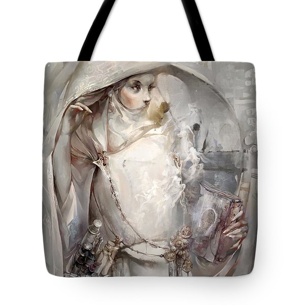 Tote Bag featuring the digital art Soul by Te Hu