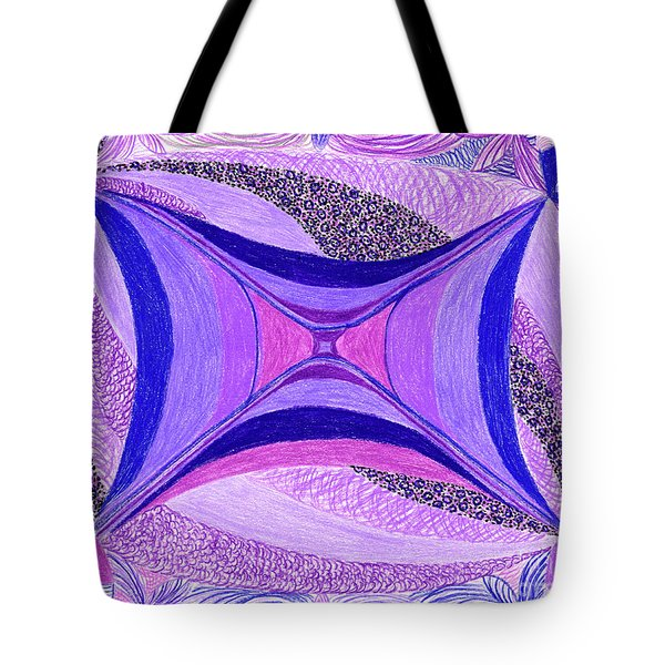 Tote Bag featuring the drawing Soulviolet by Kim Sy Ok
